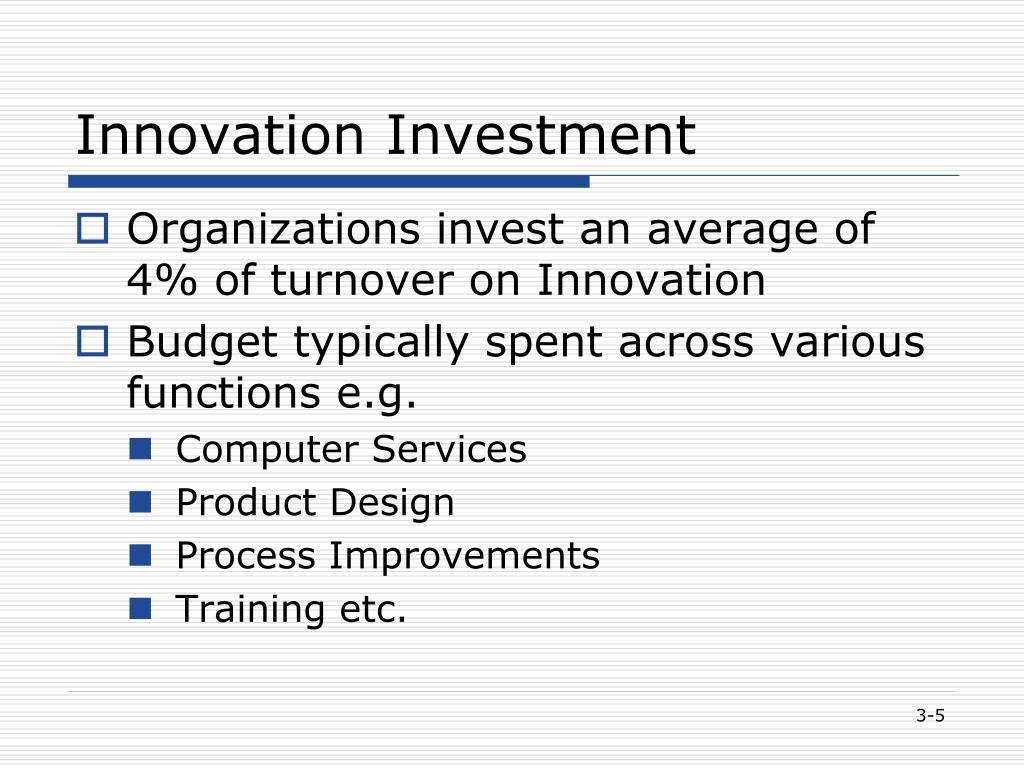 Innovation Investment