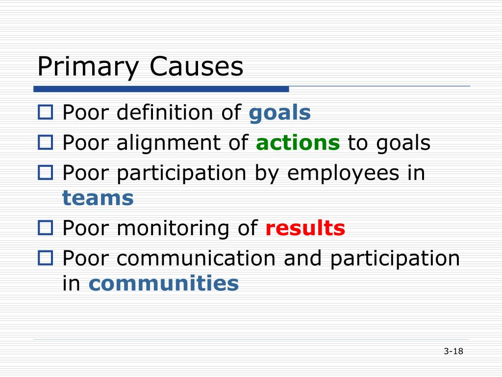 Primary Causes
