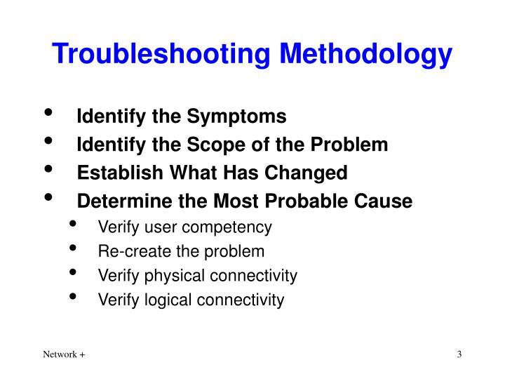 Troubleshooting methodology
