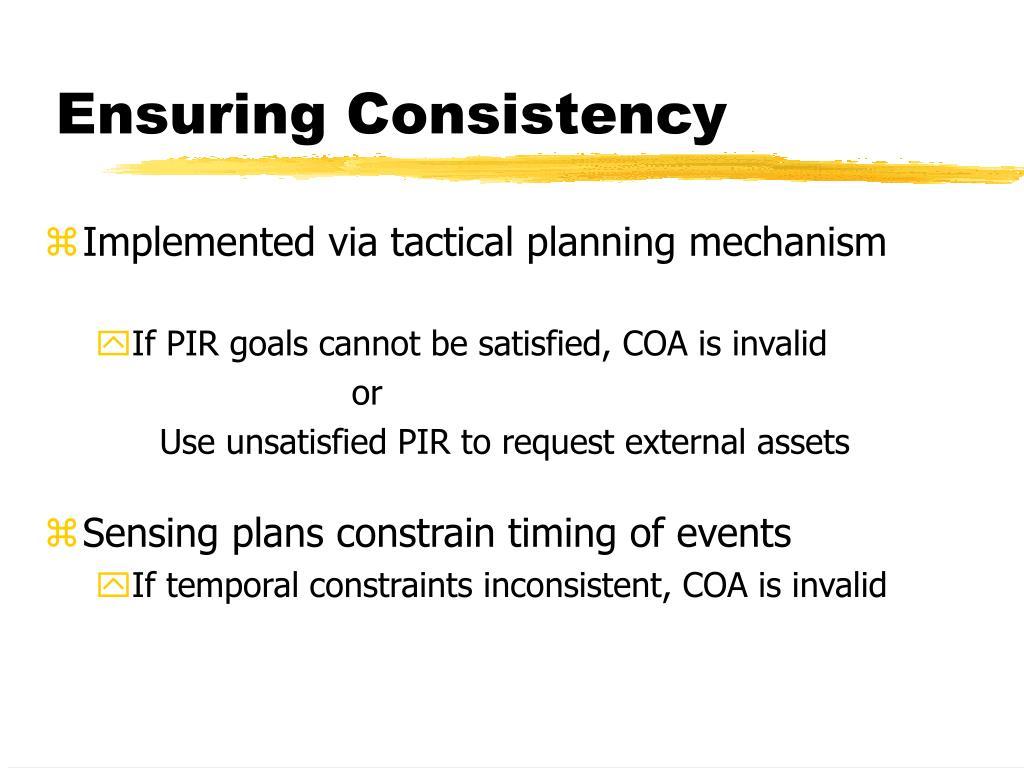 Ensuring Consistency