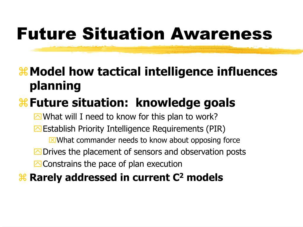 Future Situation Awareness