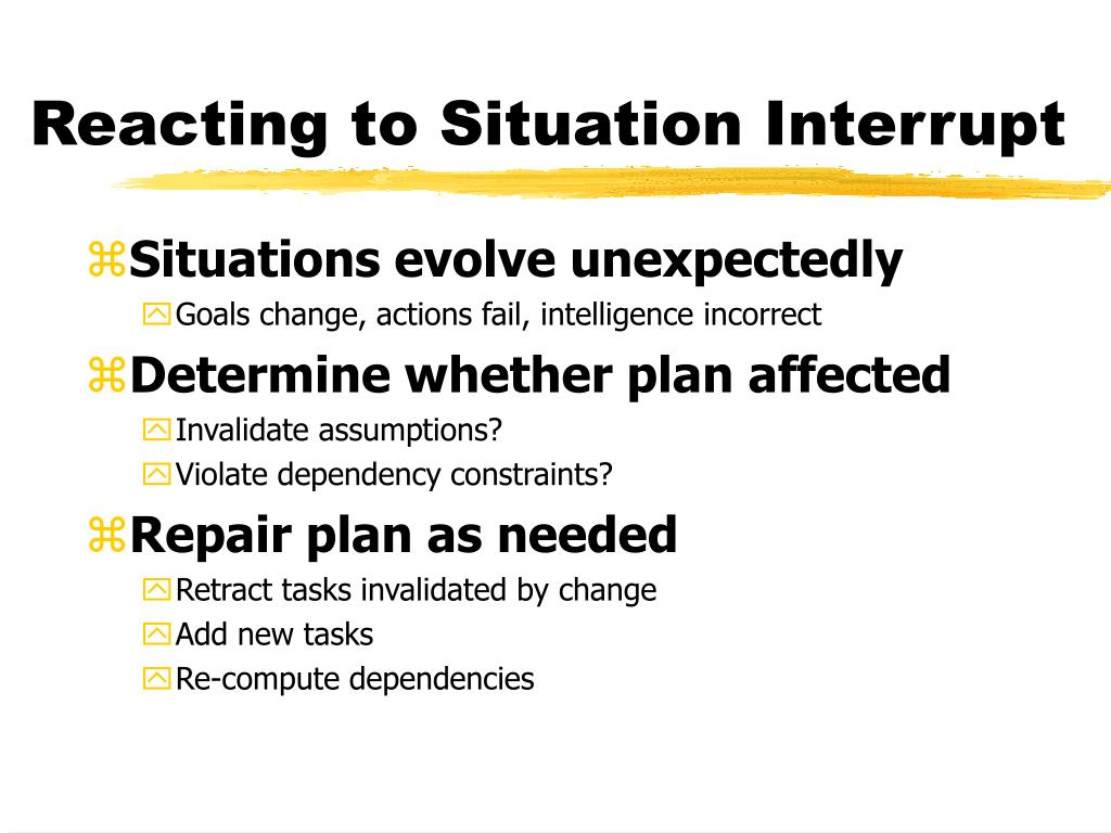 Reacting to Situation Interrupt
