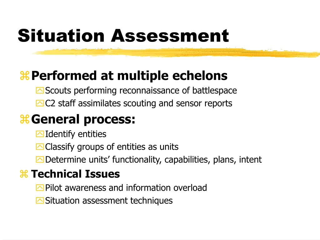 Situation Assessment