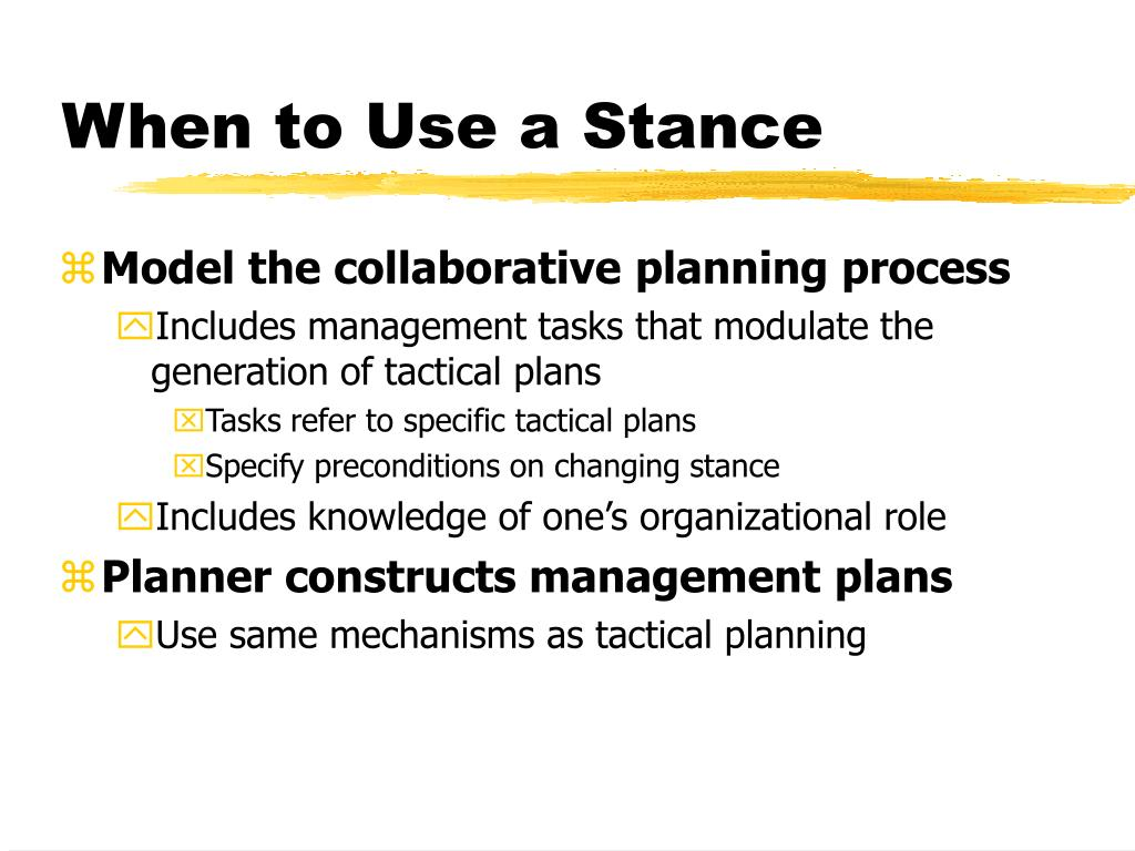 When to Use a Stance