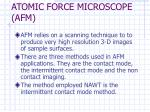 atomic force microscope afm