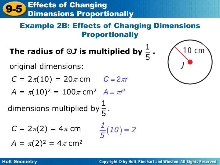 holt geometry 9-5 problem solving effects of changing dimensions proportionally