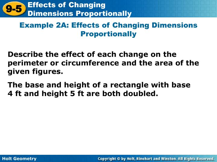 lesson 9-5 problem solving effects of changing dimensions proportionally
