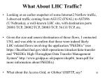 what about lhc traffic
