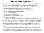 you ve been approved