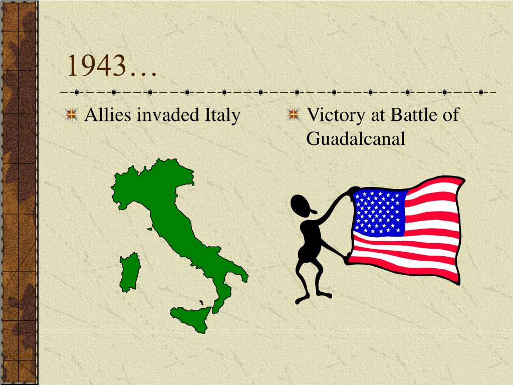 Allies invaded Italy