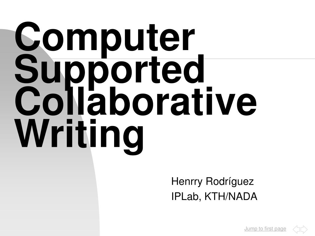 computer supported collaborative writing l.