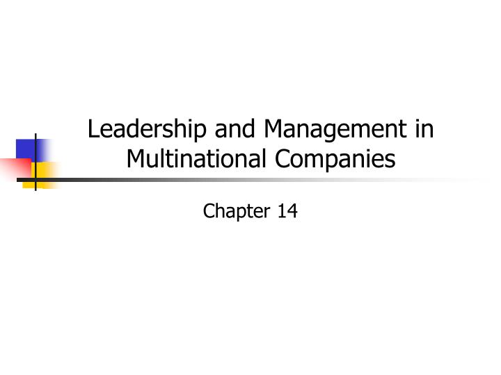 leadership and management in multinational companies n.