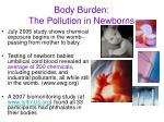 body burden the pollution in newborns