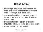 dress attire