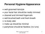 personal hygiene appearance