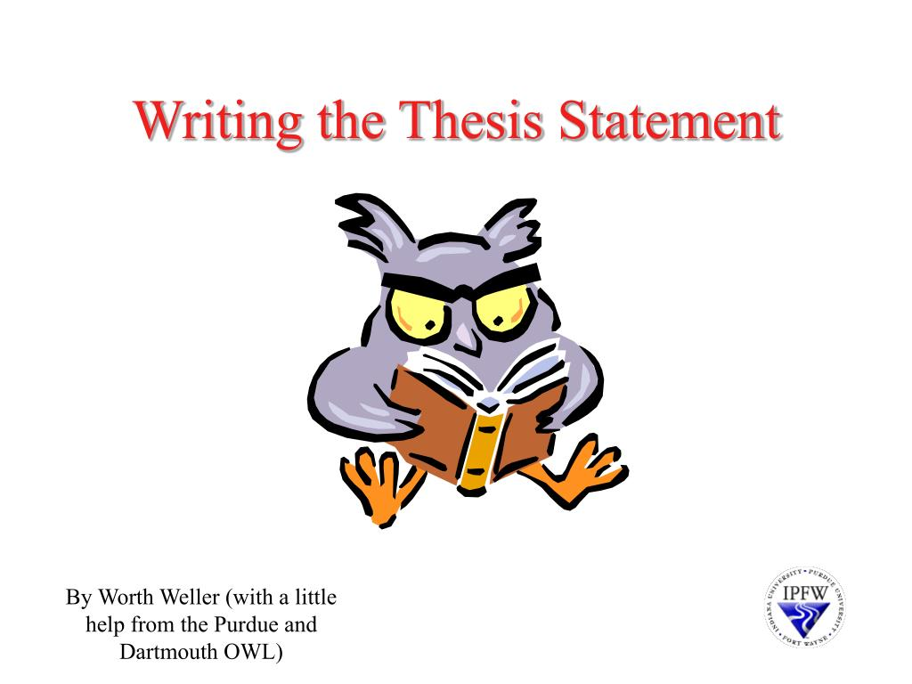 writing the thesis statement l.