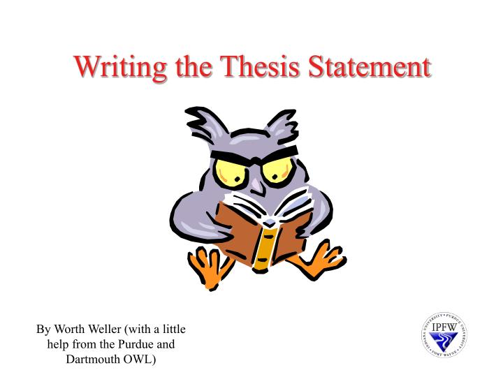 writing the thesis statement n.