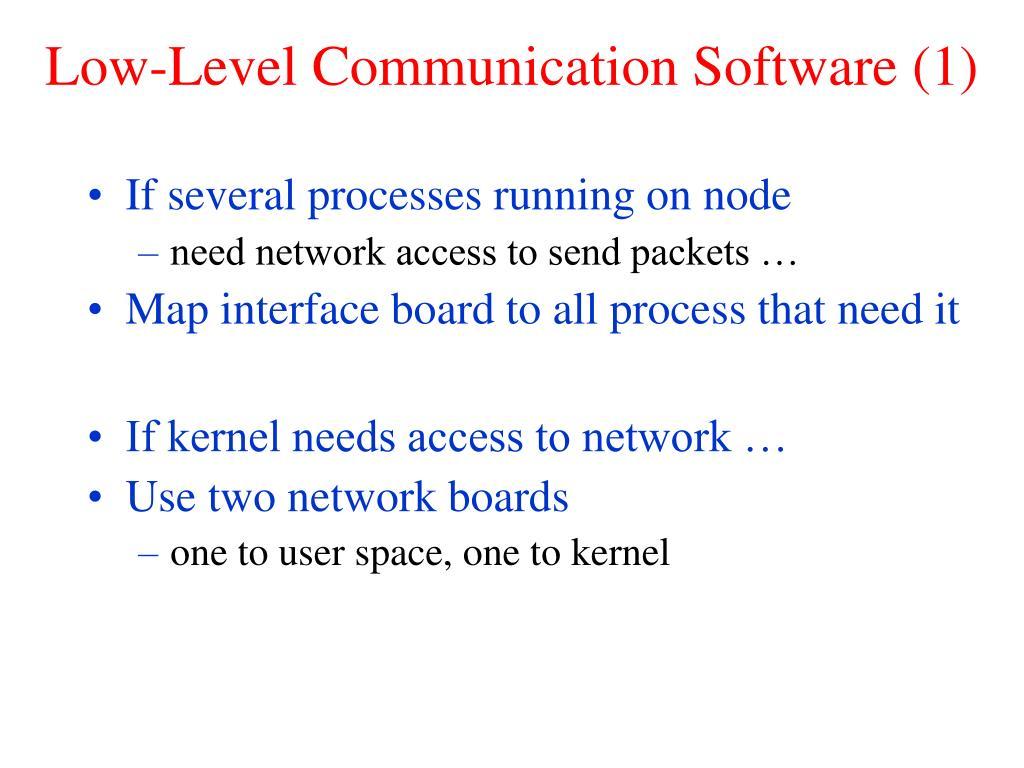 Low-Level Communication Software (1)