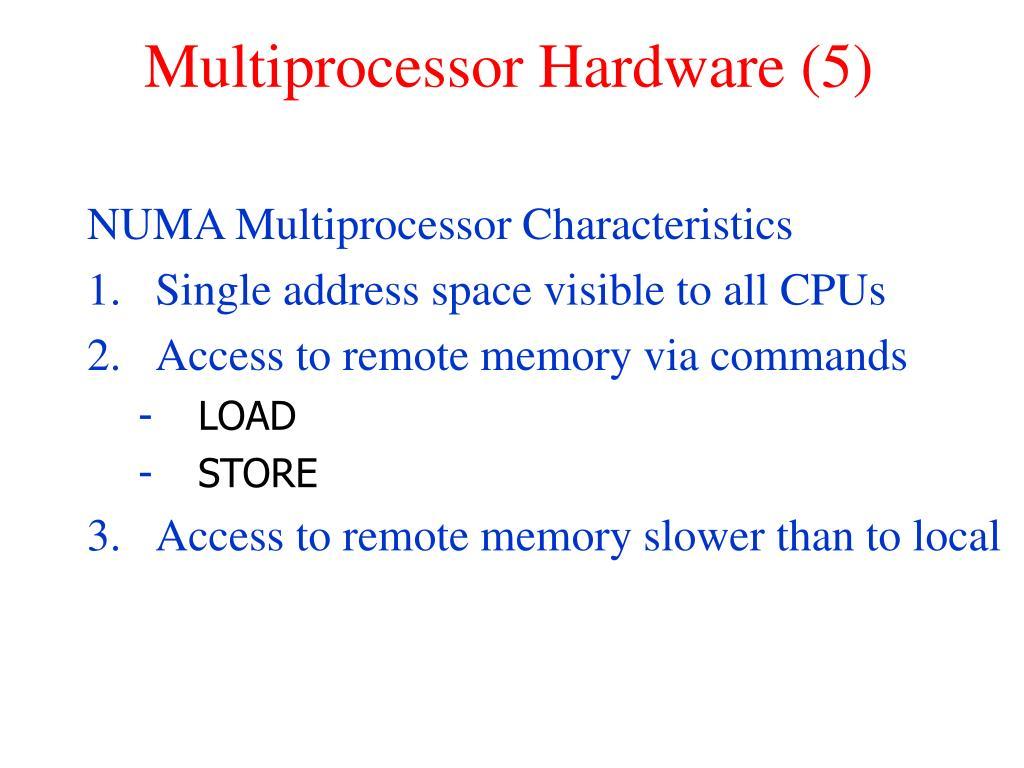 Multiprocessor Hardware (5)