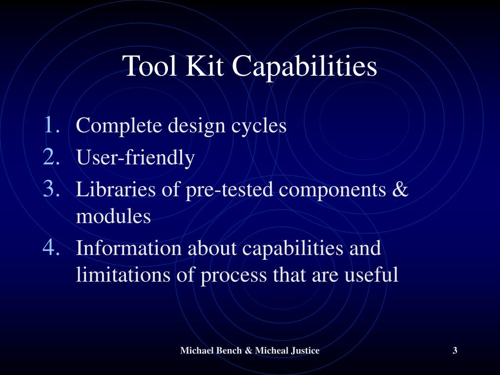 Tool Kit Capabilities