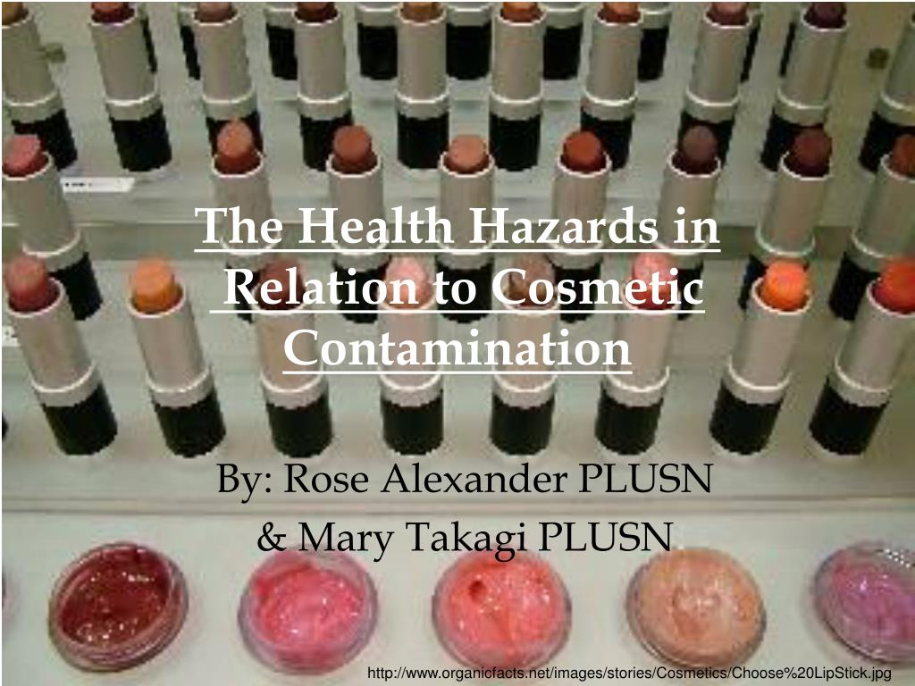 the health hazards in relation to cosmetic contamination l.