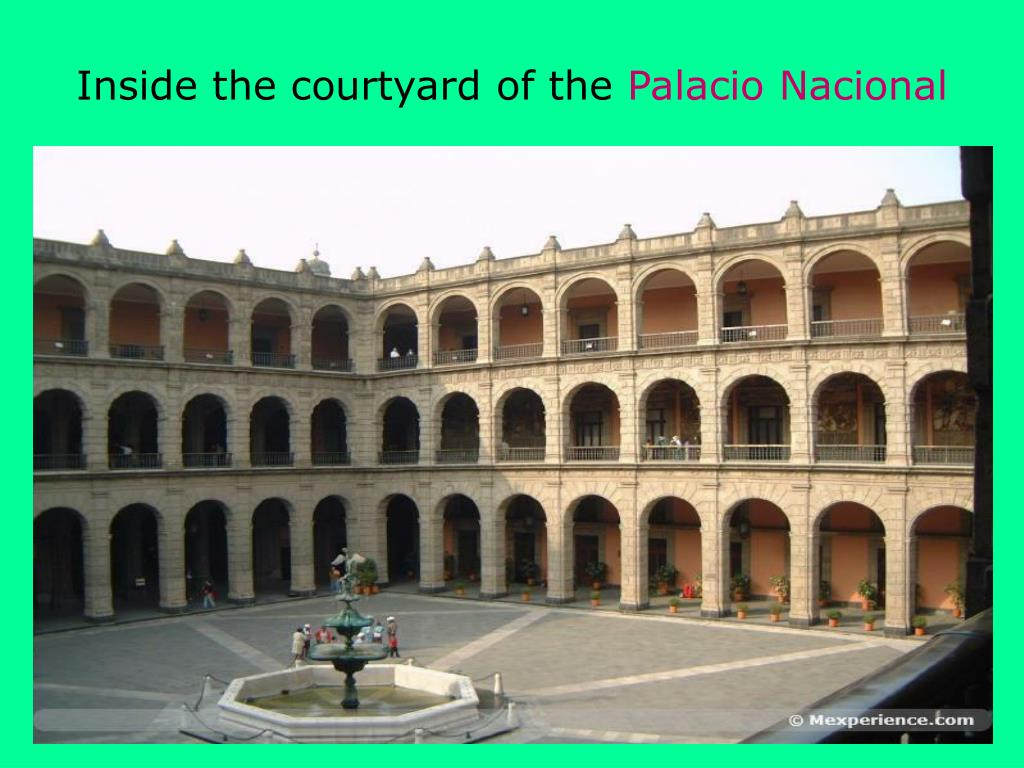 Inside the courtyard of the