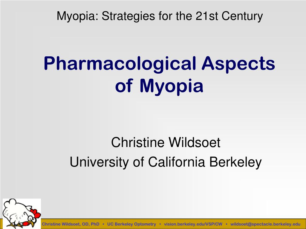 pharmacological aspects of myopia l.