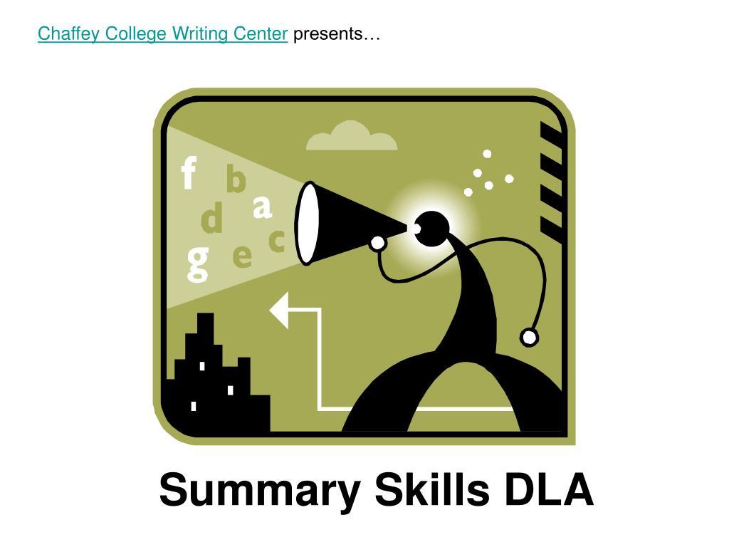 summary skills dla l.