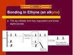 bonding in ethyne an alk yne