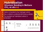 hybridization structure bonding in methane ch 4 an alk ane