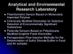 analytical and environmental research laboratory