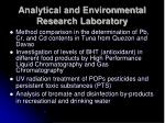 analytical and environmental research laboratory23