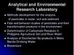 analytical and environmental research laboratory24