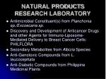 natural products research laboratory