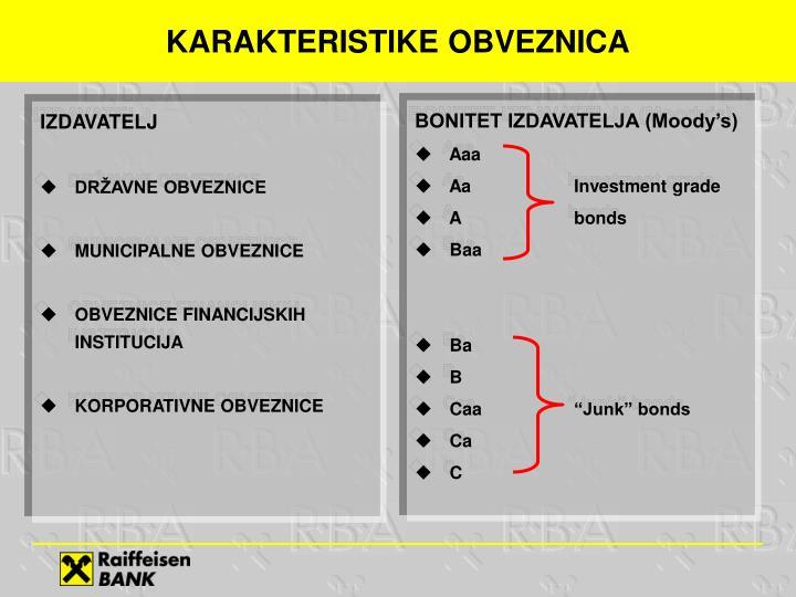 Karakteristike obveznica