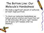 the bottom line our molecule s handedness