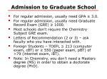 admission to graduate school