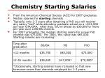 chemistry starting salaries