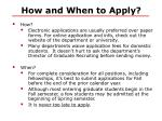 how and when to apply