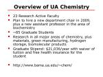 overview of ua chemistry