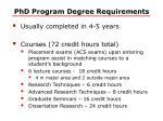 phd program degree requirements