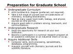 preparation for graduate school