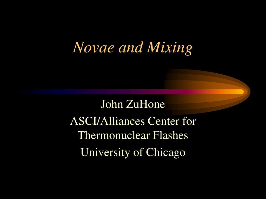 novae and mixing l.