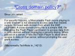 cross domain policy