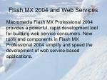 flash mx 2004 and web services