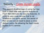 security cross domain policy
