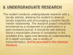 6 undergraduate research