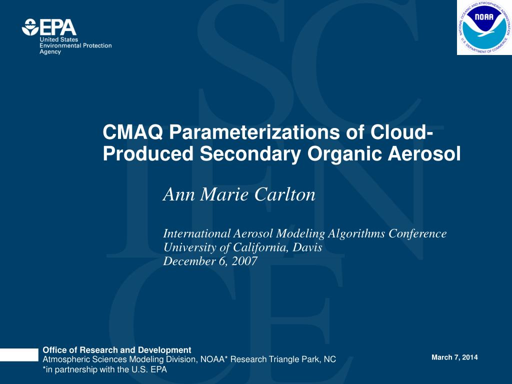cmaq parameterizations of cloud produced secondary organic aerosol l.