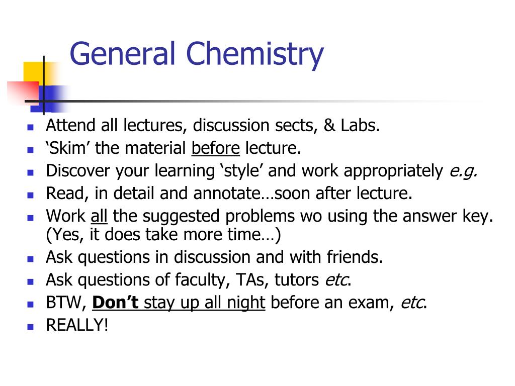 PPT - Surviving Chemistry, Important steps toward a Health