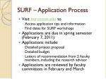 surf application process